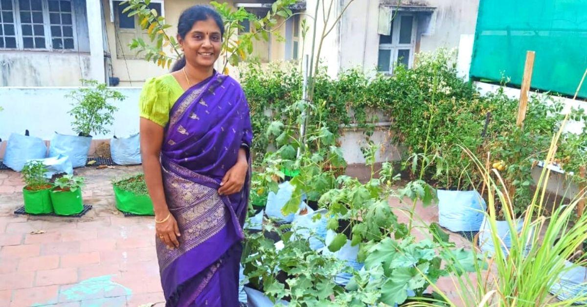 Trichy woman organic veggeis